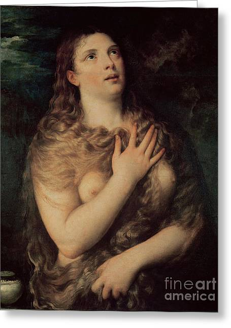 Mary Magdalene Greeting Card by Titian