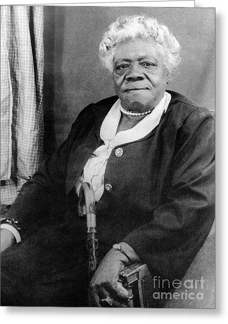 Civil Rights Activists Greeting Cards - MARY McLEOD BETHUNE Greeting Card by Granger