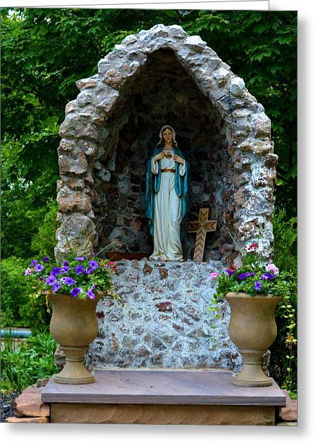 Christain Cross Greeting Cards - Mary Mother of Christ Greeting Card by Richard Jenkins