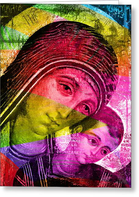 Mary Of The Way Greeting Card by Munir Alawi