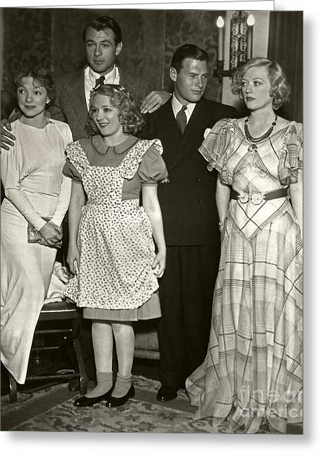 Helen Hayes Gary Cooper Mary Pickford Richard Arlen Marion Dav Greeting Card by Sad Hill - Bizarre Los Angeles Archive