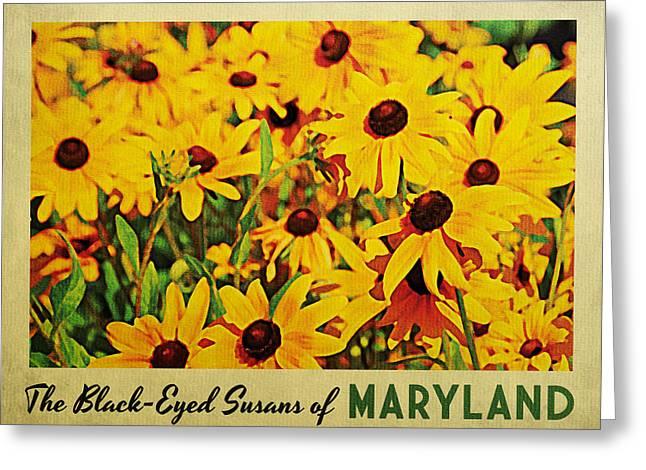 Maryland Black-eyed Susans Greeting Card by Flo Karp