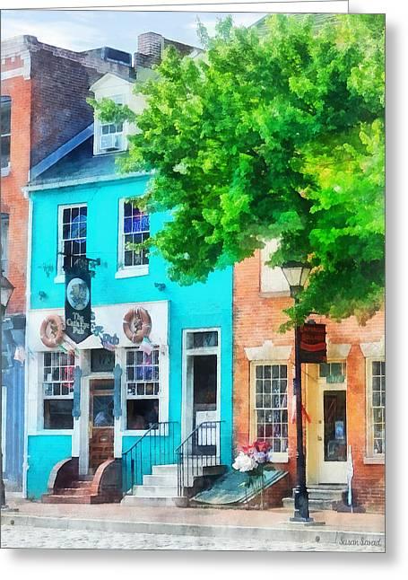 Maryland - Neighborhood Pub Fells Point Md Greeting Card by Susan Savad