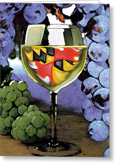 Maryland Wine Greeting Card by John D Benson