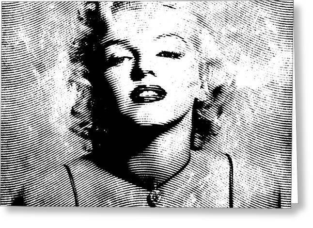 """textured Photography"" Greeting Cards - Marilyn Monroe - 04a Greeting Card by Variance Collections"