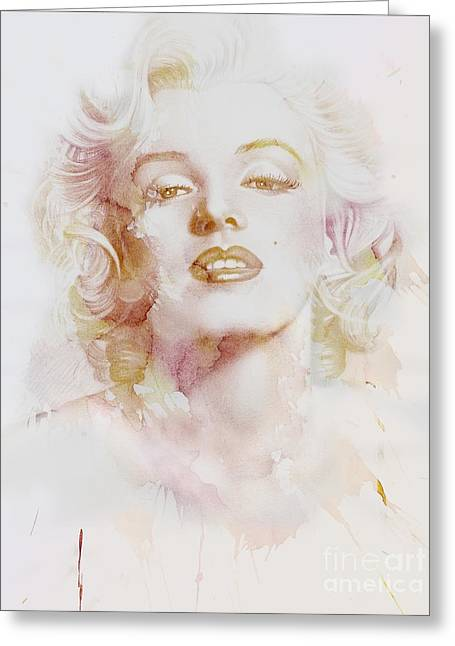 Marylin Monroe Greeting Card by Jacky Gerritsen