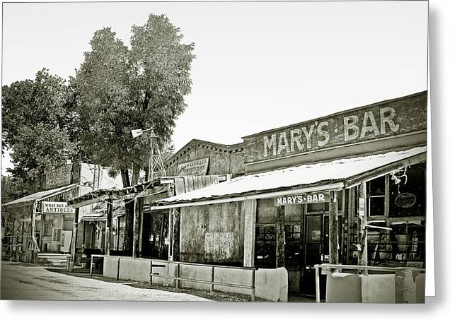 Scenic Drive Greeting Cards - Marys Bar Cerrillo NM Greeting Card by Christine Till