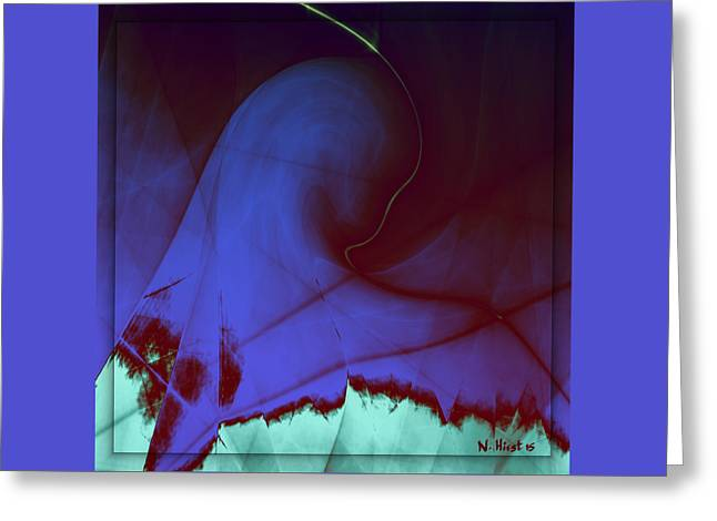 Purple Robe Greeting Cards - Marys Tattered Dream Greeting Card by Nigel Hirst