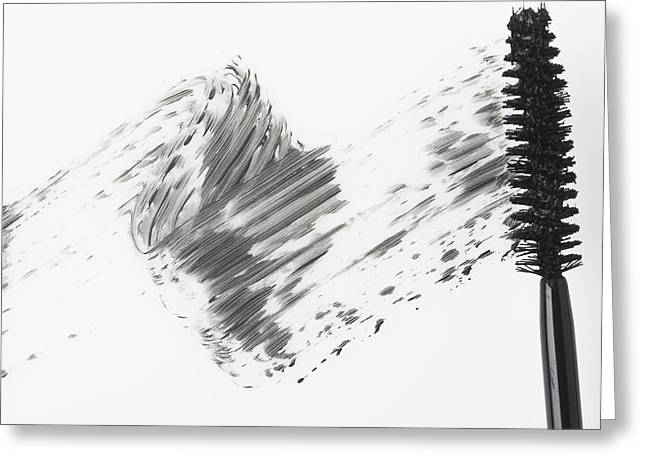 Directly Above Greeting Cards - Mascara Brush Leaving Traces Of Mascara Greeting Card by Eric Kulin