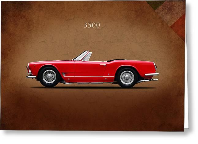 Spyder Greeting Cards - Maserati 3500 Spyder 1959 Greeting Card by Mark Rogan