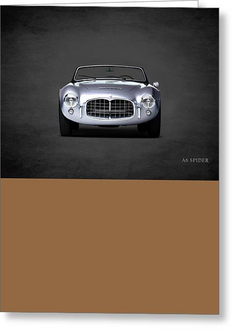 Sports Photographs Greeting Cards - Maserati A6 Spider Greeting Card by Mark Rogan