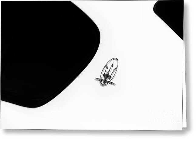 Window Frame Greeting Cards - Maserati Abstract Greeting Card by Tim Gainey