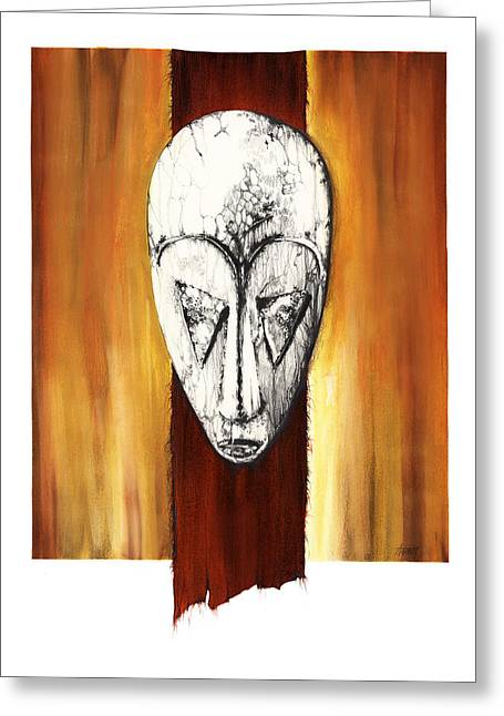Spirt Greeting Cards - Mask II untitled Greeting Card by Anthony Burks Sr