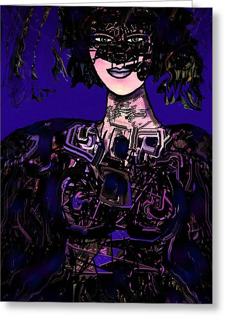 Designers Choice Mixed Media Greeting Cards - Masked Greeting Card by Natalie Holland