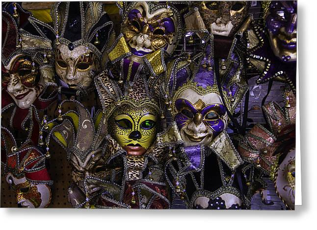 Many Faces Greeting Cards - Masks New Orleans Greeting Card by Garry Gay