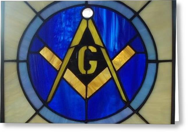 Masonic Emblem Greeting Card by Liz Lowder