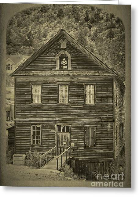 Masonic Hall Greeting Card by Robert Bales