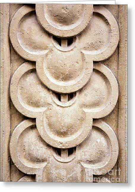 Stone Carving Greeting Cards - Masonry detail Greeting Card by Jane Rix