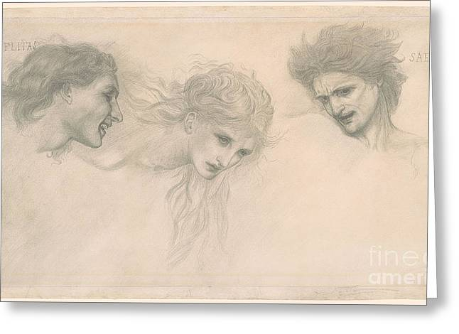 1833 Greeting Cards - Masque of Cupid Greeting Card by Edward Coley Burne-Jones
