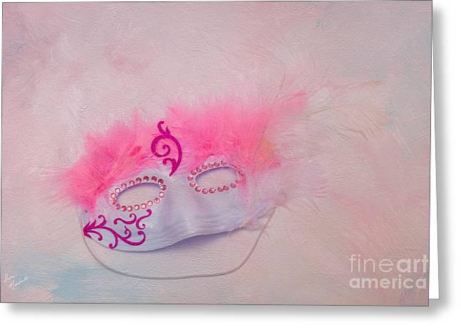 Enhanced Greeting Cards - Masquerade Greeting Card by Diane Macdonald