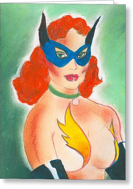 Pinup Pastels Greeting Cards - Masquerade Greeting Card by Maurice Dantes