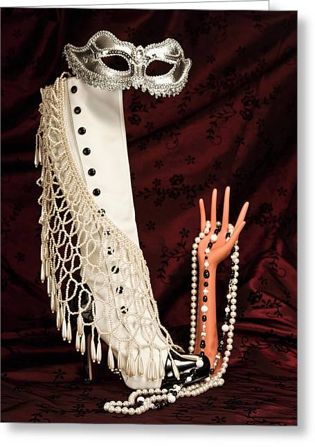 Jewelery Greeting Cards - Masquerade Greeting Card by Tom Mc Nemar