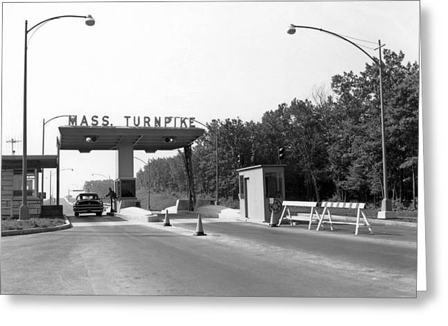 Western Massachusetts Greeting Cards - Massachusetts Turnpike Greeting Card by Underwood Archives