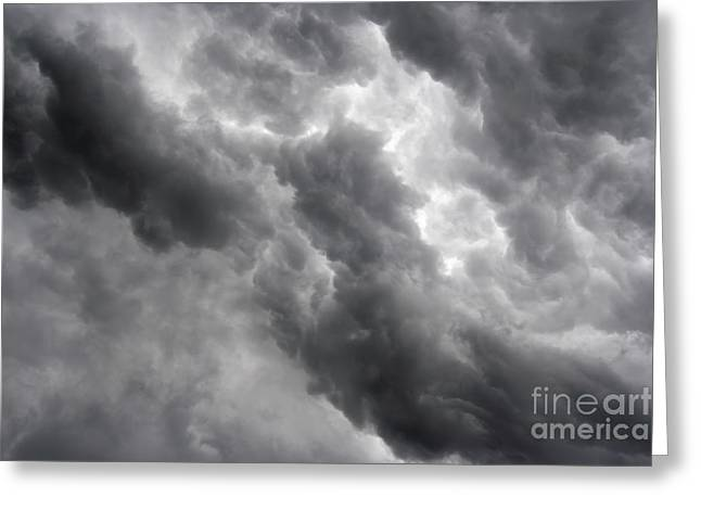 Leaden Sky Greeting Cards - Masses Of Dark Clouds Greeting Card by Michal Boubin