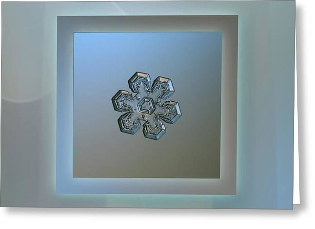 Massive Silver - Pastel Frame Greeting Card by Alexey Kljatov