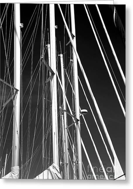 Mast Profile Greeting Card by John Rizzuto