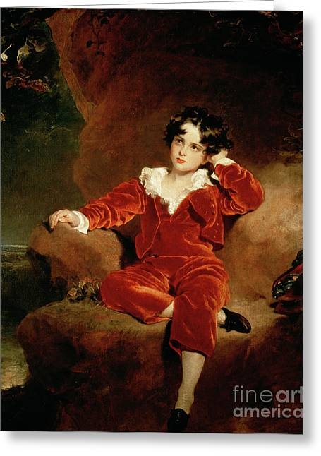 Youth Paintings Greeting Cards - Master Charles William Lambton Greeting Card by Sir Thomas Lawrence