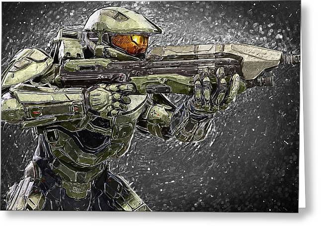 Master Chief Greeting Card by Taylan Soyturk