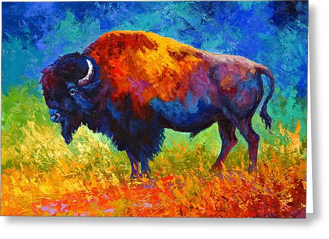Master Of His Herd Greeting Card by Marion Rose