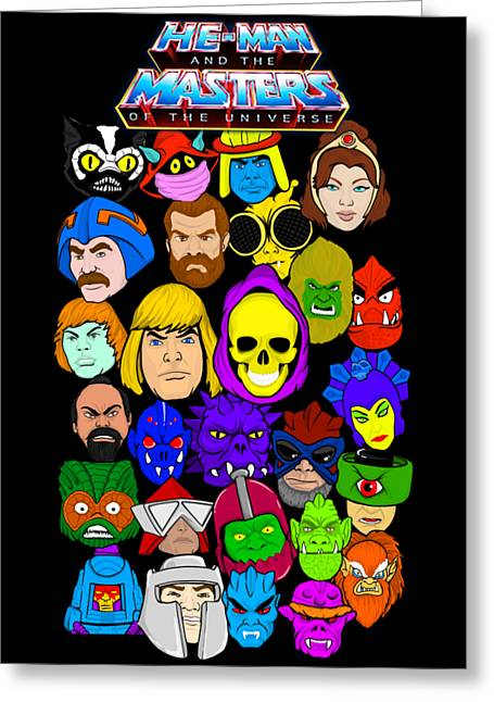 Masters Of The Universe Collage Greeting Card by Gary Niles