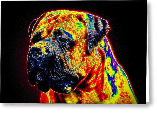 Guard Dog Greeting Cards - Mastiff Greeting Card by Alexey Bazhan