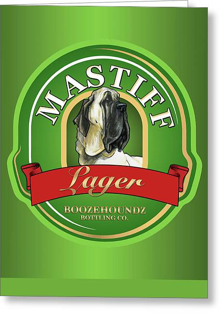 Booze Drawings Greeting Cards - Mastiff Lager Greeting Card by John LaFree
