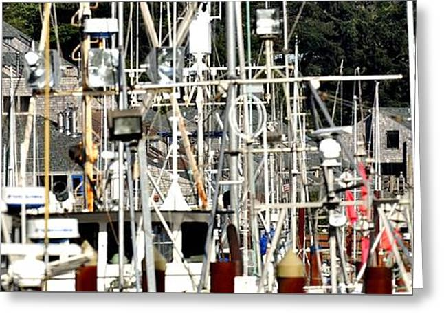Masts Greeting Cards - Masts 2354 Greeting Card by Jerry Sodorff