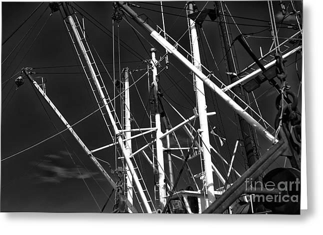 Old Ship Art Greeting Cards - Masts at Barnegat Light Greeting Card by John Rizzuto