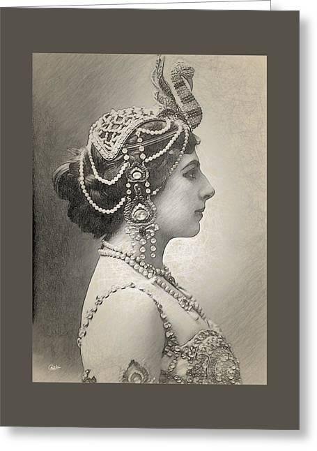 Mata Hari Portrait Greeting Card by Joaquin Abella