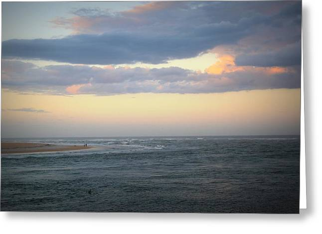 Couple On Beach Greeting Cards - Matanzas Inlet Greeting Card by Mandy Shupp
