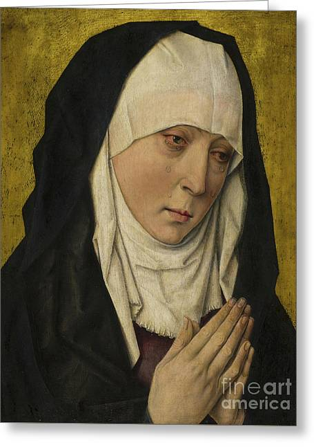 Mater Dolorosa  Sorrowing Virgin Greeting Card by Dieric the Elder Bouts