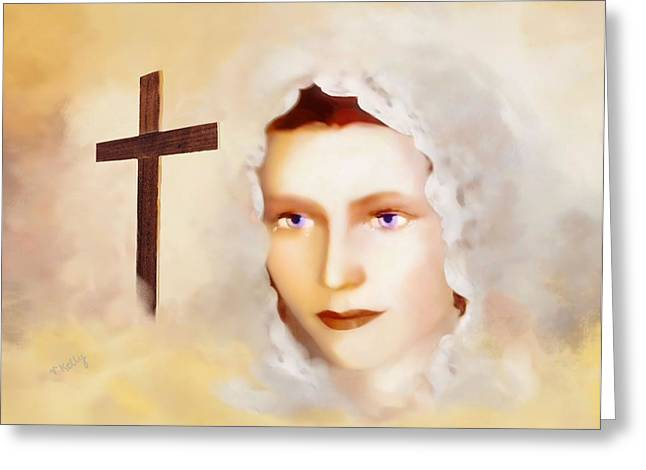 Kelly Greeting Cards - Mater Dolorosa Greeting Card by Valerie Anne Kelly