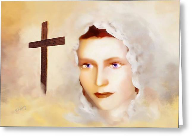 Lady Of Sorrow Greeting Cards - Mater Dolorosa Greeting Card by Valerie Anne Kelly