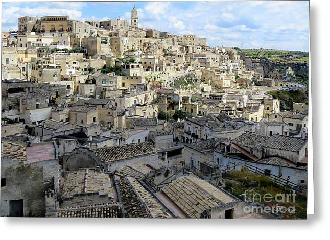 Scenic Greeting Cards - Matera.The Sassi.Italy Greeting Card by Jennie Breeze
