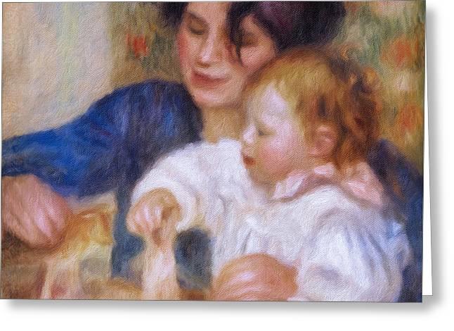 Maternal Love Greeting Card by Georgiana Romanovna