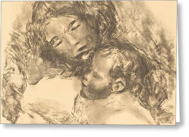 Famous ist Drawings Greeting Cards - Maternity -maternite Greeting Card by Auguste Renoir