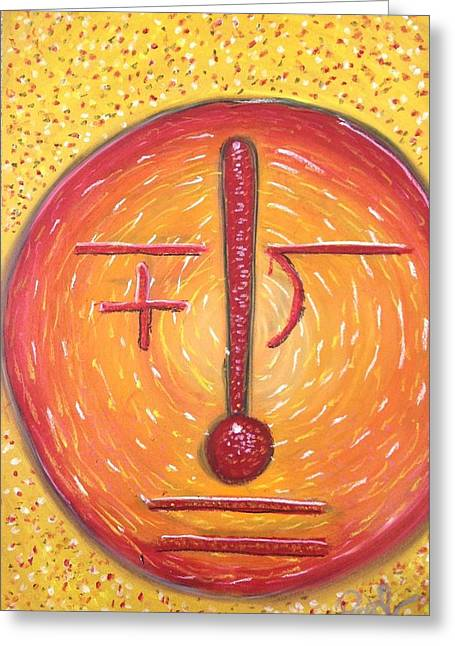 Yellow Line Pastels Greeting Cards - Math Man Greeting Card by Regina Jeffers