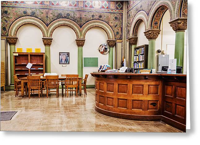 Altgeld Hall Greeting Cards - Mathematics Library - UI0062 Greeting Card by Michael Buras