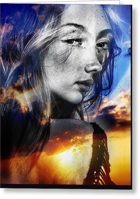 Matilda's Sunset Greeting Card by Maciej Mackiewicz