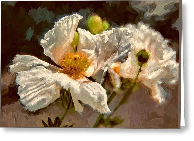 Sonoma County Digital Greeting Cards - Matilija Poppies Greeting Card by John K Woodruff